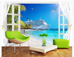 $enCountryForm.capitalKeyWord Australia - 3d wallpaper custom photo Bali seaside coconut tree yacht scenery painting Home decor 3d wall murals wallpaper for walls 3 d living room