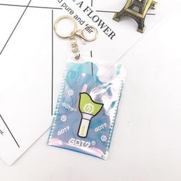 $enCountryForm.capitalKeyWord Australia - Kpop GOT7 Keychain Accessories Transparent Laser Card Holder GOT7 Keyring Pendant Fans Gift Drop Shipping