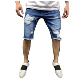 mens short jeans NZ - CHAMSGEND New Fashion Leisure Mens Ripped Short Jeans Brand Clothing Summer Shorts Breathable Tearing Denim Shorts Male