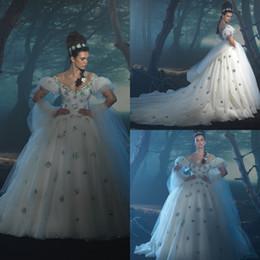 sparkly princess ball gown wedding dresses 2019 - Shinny Sequins Ball Gown Wedding Dress Sparkly Princess Cinderella Plus Size Bridal Gown Custom Made Bohemian Cheap Brid
