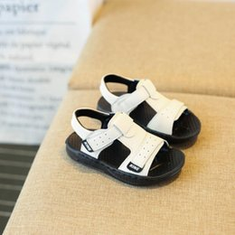 $enCountryForm.capitalKeyWord Canada - 2018 New Summer Children Beach Sandals Fashion Kids Genuine Leather Sandals Boys Soft Antislip Flat Sandals Size 21-31