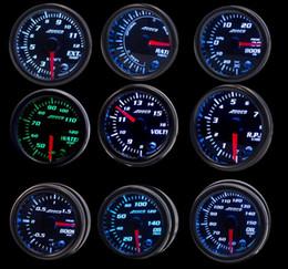 "Wholesale ADDCO 2""  52mm 7 Color LED Smoke Face Car Meter Boost Gauge Water temperature Oil pressure Volt Tachometer Meter"