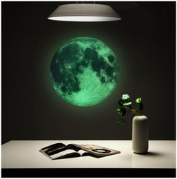 Wall sticker earth online shopping - 30cm Luminous Moon Earth Cartoon DIY D Wall Stickers for Kids Room Bedroom Glow In The Dark Wall Sticker Home Decor Living Room