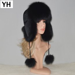 $enCountryForm.capitalKeyWord Australia - New Style Winter Genuine Real Fox Fur Hat Women 100% Natural Real Fox Fur Cap 2018 Quality Warm Russia Real Fox Fur Bomber Caps D19011503