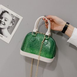 $enCountryForm.capitalKeyWord NZ - Hot Sale Women Transparent Leather Handbags sac transparent femme clear jelly bag purse summer beach bags laser summer chain bag