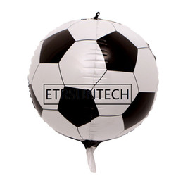 party supplies round balloons NZ - wholesale 200pcs 24inch 4D Round Football Foil Balloons Wedding Birthday Party Decor Helium Inflatable Globos Supply