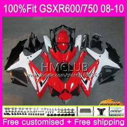 For 2008-2009 Suzuki GSXR 600 GSXR750 Drivers Front Seat Cover W// Red Letter
