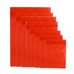 China 10 Sizes Available 100Pcs lot Red Plastic Zip Lock Packaging Bag Reclosable Tea Nuts Ziplock Packing Pouch Grocery Sundries Zipper Pack Bag suppliers