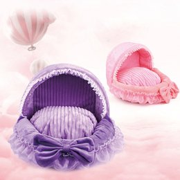 dreams beds NZ - Cute Lace Princess Dog Basket Bed Cat Puppy Pet Beds Pet Dream Nest Kennel Cat Dog Beds Luxury Sofa Bed Bichon