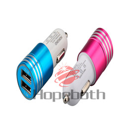 High Quality Usb Gps Australia - Metal high quality mini Dual usb car charger Quick charging auto power adpater phone chargers for iphone ipad mini air samsung gps pc