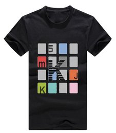 korean style t shirt man 2019 - Korean Style Design, Spring and Summer New Style Mens T-shirt, Plaid Printing, Color Has Black, White and Gray, M-XXL Si