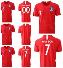 Discount south korea shirts - South Korea Jersey 2019 2020 Men Soccer 7 H M SON 22 YHGO 2 YLEE 19 HMSON Home Red Football Shirt Kits Uniform