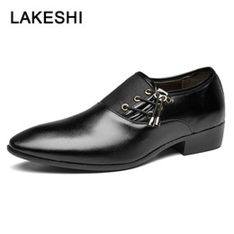 Business Man Shoe Australia - 2019 New Men's Dress Shoes Plush Size 38-48 Classic Black Pointed Toe Oxfords For Men Formal Shoes Business Men Leather