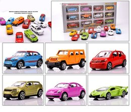 Car Helicopter Toy Australia - Simulation 12pcs set Alloy Luxury Mini car model Fire truck helicopter super car sportscar SUV vehicle Collection model gift toy