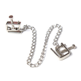 Nipples games online shopping - Metal Nipple Clamps With Chain Screw Spike Nipple Clamps Erotic Novelty Adult Game Breast Clips for Adult Couples Flirting Toys