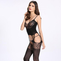 Womens mesh lingerie online shopping - Women Underwear Sexy Open Crotch Tight Pantyhose Stocking Sexy Lingerie Mesh Underwear Womens clothes Tights Fishnet Stocking drop shipping