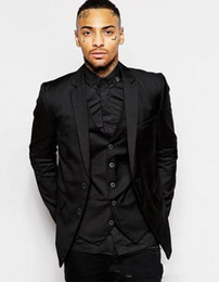 $enCountryForm.capitalKeyWord UK - Fashion Black Groom Tuxedos Notch Lapel Groomsmen Mens Wedding Dress Excellent Man Jacket Blazer Business Suit(Jacket+Pants+Vest+Tie) 1824