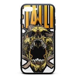 $enCountryForm.capitalKeyWord UK - IPhone 8 Plus Case,iPhone 7 Plus Case Metallica music logo 9H Tempered Glass Back TPU Bumper Shockproof Phone Case