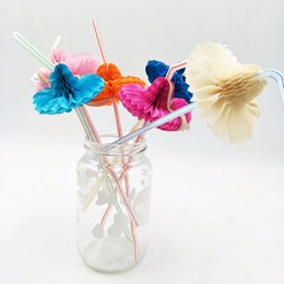 $enCountryForm.capitalKeyWord Australia - 50pcs  Cute 3D Straw Hat Flexible Plastic Straw Pattern Theme Party Decoration Disposable Tableware Drinking Straws Decor