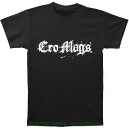 shirt size medium Canada - Fashion 2018 Top Mens Cro Mags White Logo T-shirt Size Medium M New Classic Hardcore Punk