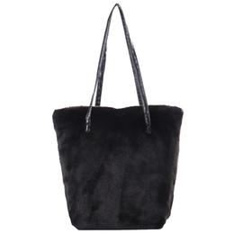 $enCountryForm.capitalKeyWord NZ - Faux Fur Furry Sling Shoulder Handbag Bag Plush Fashion Top-Handle Hand Purses Bags Causal Tote Ladies Handbags Women Bag