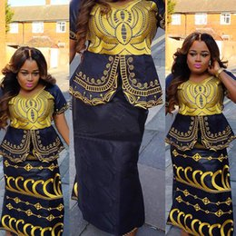 $enCountryForm.capitalKeyWord UK - African new design bazin embroidery dresses short rapper with scarf three pcs one set