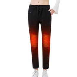 Wholesale Graphene USB Intelligent Heating Warm Trousers Men And Women Models Carbon Fiber Heating Pants Fleece Lined Warm Pants