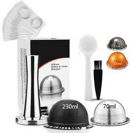 15pcs/комплект многоразовые капсулы кофе Шпалоподбойки алюминиевая фольга комплект 70/230МЛ для Nespresso Vertuo ENV135BAE для Крупс ХП 9031 на Распродаже