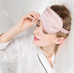 fashion eye sleep mask Canada - Fashion Silk Sleeping Eye Mask with Bag Portable Travel Sleep Masks Cover Eyepatch Blindfold Eyeshade Rest Relax Eye Patch Shade Light Pad
