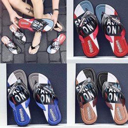 $enCountryForm.capitalKeyWord Australia - free shipping Leisure Rubber Slide designers Sandal Slippers blue Red black Stripe Design Men Classic men Summer Outdoor beach Flip Flops