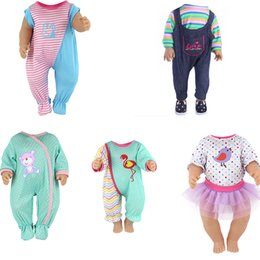 jumpsuit babies Australia - 18 Inch United States Girl Doll Clothes Fit 43cm Baby Doll Jumpsuit Plush Crawling Clothes Children Best Gift Baby