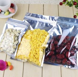 $enCountryForm.capitalKeyWord Australia - 100 Pcs Clear Aluminum Foil Bag Self Seal Zipper Ziplock Packing Food Bag Retail Resealable Baking Packaging Bag Pouch