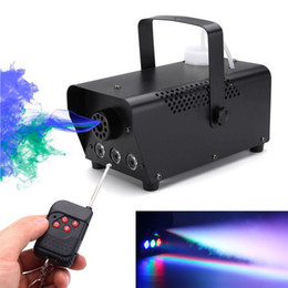 Wholesale LED Stage Fog Machine fast shipping disco colorful smoke machine mini LED remote fogger ejector dj Christmas party