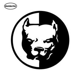 Wholesale PITBULL SUPER HERO DOG Fun Dog Personalized Car Stickers Vinyl Decals Black Silver CM