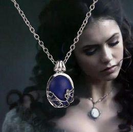 $enCountryForm.capitalKeyWord Australia - The Vampire Diaries necklace vintage Katherine pendant fashion movie jewelry cosplay for women wholesale