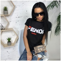 $enCountryForm.capitalKeyWord Australia - Fashion Women Designer T shirts F Letters Printing Casual Top Tees Short Sleeve Round Neck Sport Leisure T-shirt Street Wear S-XL C43005