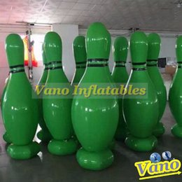 wholesale large bowls Australia - Inflatable Bowling Pin 2m 2.5m 3m 6pcs Set Large Human Bowling Bottle Zorb Hamster Ball Games Free Shipping