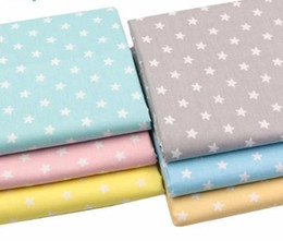 Sewing Baby Bedding Australia - Multicolor Stars 100% Twill Cotton for Patchwork Quilting Cushions Baby Bed linen Sewing Cloth Material