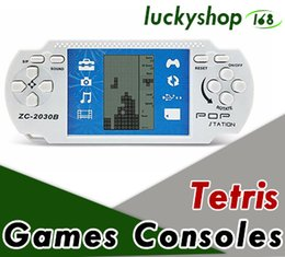 classic tetris game NZ - Children Game Machine Classic Tetris Electronic Game Machines PSP Handheld Game Player Console For Kids Adults Intelligence Toys Gifts 100X