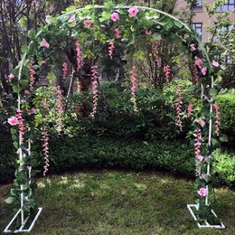 Flowers Party Decorations Australia - Bridal Arch Frame Background Decoration Cherry Blossom Arch Flower Stand Door Wedding Party Decoration Props