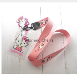 Kitty For Free Australia - Wholesale Lot 1 pcs hello kitty Lanyards Straps For ID Badge Mobile Phone Free Shipping A-26