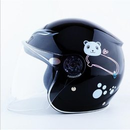 kids motorcycle 2019 - kids helmet with cartoon pattern New motorcycle children helmet motorcycle open face kids age:2-9 size:50-54cm cheap kid