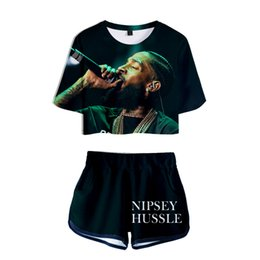 Pink Clothing Women UK - Rapper Nipsey Hussle Women Tracksuits 3D Digital Print 2pcs Shorts Suits Summer Casual Suits Fashion Clothing