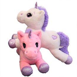 $enCountryForm.capitalKeyWord UK - 60 80cm Unicorn Plush Toys for children Unicorn Stuffed Animal Horse Toy Soft Unicornio Peluche Doll Gift Children Photo Props