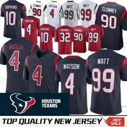 a1e2ec45c Houston 4 Deshaun Watson Texans Jersey 99 J.J. Watt 32 Tyrann Mathieu 10 DeAndre  Hopkins 90 Jadeveon Clowney Jerseys