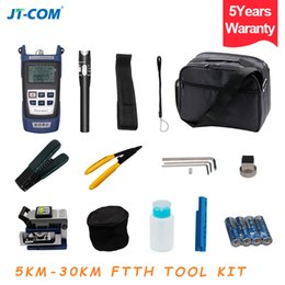 Fc Fiber Optic NZ - Fiber Optic FTTH Tool Kit with FC-6S Fiber Cleaver and Optical Power Meter 5km to 30km Visual Fault Locator Cable Wire Stripper