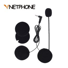 Para cascos online shopping - New Cascos Para Moto Motorcycle Intercom Accessories mm Jack Microphone Speaker Earphone Replacement for Vnetphone V6 V4