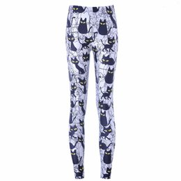 Wholesale pants for womens resale online - Leggings For Women New Hot Sexy Women Casual New Pants Womens Trousers Cartoon Black Cat Pant Capris Cute New Fitness