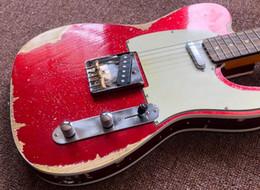 Super guitarS online shopping - 10S Custom Shop MasterBuilt Alder Body Tele Super Faded Heavy Relic Metallic Red Sparkle TL Electric Guitar Vintage Tuners Aged Hardware