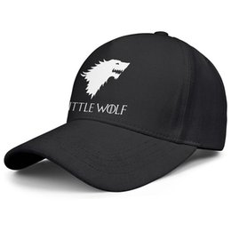 Little Hats UK - Womens Mens Flat-along Adjustable Game of Thrones One Piece Little Wolf Hip Hop Cotton Baseball Cap Bucket Sun Hats Military Caps Airy Mesh